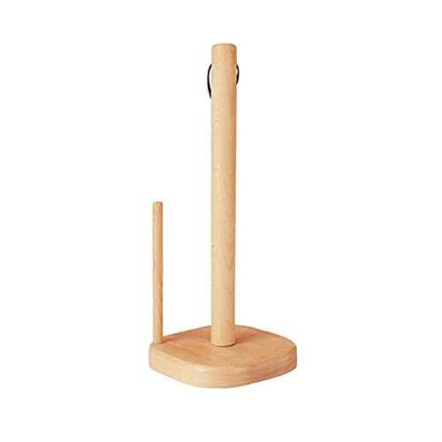 Portarrollos Cocina Tenedor de rodillos de cocina de madera para soporte de papel de cocina de pie - puede colgar estante de papel de rollo vertical adecuado para la despensa de la cocina Portarollos