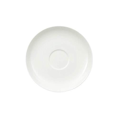 Villeroy und Boch Royal Café au Lait-Untertasse, schlichter Unterteller aus Premium Bone Porzellan, spülmaschinenfest, 180 mm