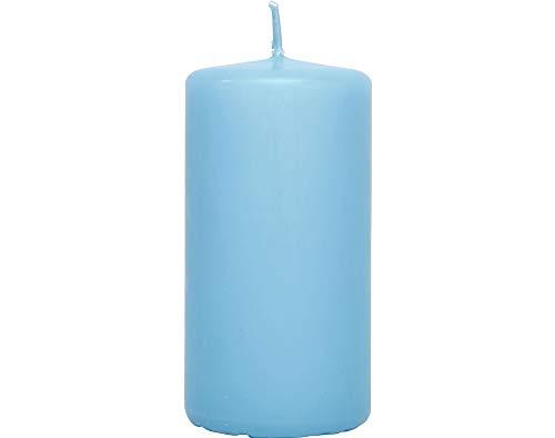 6 Aqua Blue 10cm Unscented Votive Candles | Votive & Table Candles for Crafts