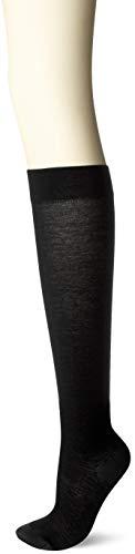 [ナイガイ] レディス・段階圧力設計・足口 12hPa 足首 20hPa・綿混・ミドルパワー着圧ハイソックス レディース 3070305 ブラック 日本 23~25cm (日本サイズM-L相当)