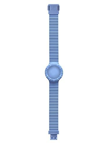 Orologio HIP HOP DONNA HERO 32 quadrante MONO-COLORE BIANCO e CINTURINO SILICONE AZZURRO HBU0645