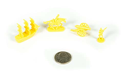 Napoleonic & Civil War Military Miniatures (Yellow): Plastic Toy Soldiers Set: Infantry, Cavalry, Artillery, Ships
