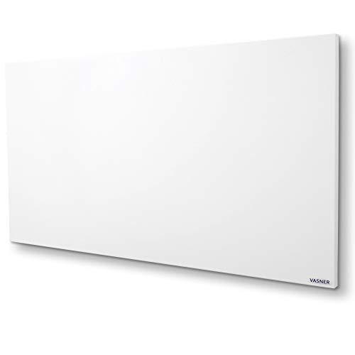 VASNER Citara Infrarotheizung 900 Watt, 60 x 120 cm weiß Metall, Elektroheizung Wand- Deckenmontage, patentierte Halterung, IP44 Schutz Bad Heizpaneel