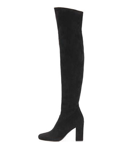 YOWAX Botas de Las Mujeres de la Rodilla de tacón Alto Botas largas Estiramiento Gruesas Botas sobre la Rodilla Botas otoño y del Invierno para el Partido de la tarde-EU38