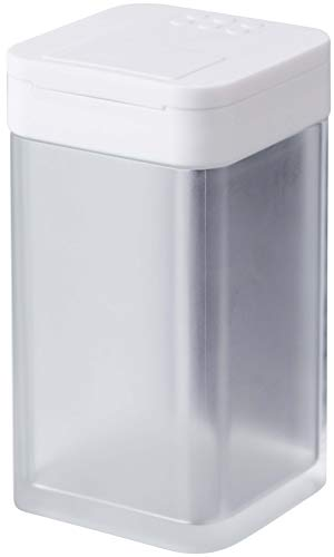 山崎実業(Yamazaki) マグネット小麦粉&スパイスボトル タワー ホワイト 約W5.8XD6XH10.5cm タワー 調味料入れ スライド式開閉 量を調節できる 4819
