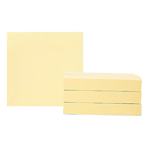 Arti-Cipes ポストイット 付箋 超徳用 ブロックメモ 文房具 便利 メモ用紙 強粘着 メモ帳 かわいい 創造的 ノート オフィス学校 76×76mm 500枚 (イェロー, 76*76mm (500枚))