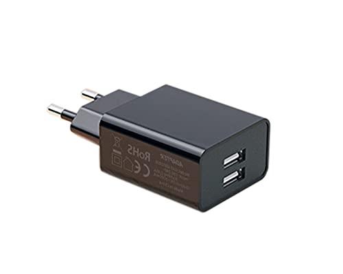 AptoFun 2 Port 5V 2A Micro USB Ladegeräte für Arduino UNO, Nano Raspberry Pi 4 und Smart Phone, iPhone, Huawei, Samsung in Schwarz