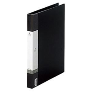 (業務用50セット) LIHITLAB クリアブック/クリアファイル リクエスト 【A4/タテ型】 差し替え式タイプ G3801-24 A4S黒 ds-1737341