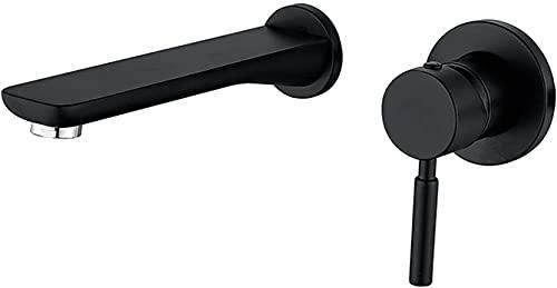 NFRMJMR Basin Tap Brass Basin Mezclador Grifo Black Cuenco Grifo Tapas montadas en la pared Adecuados para baño