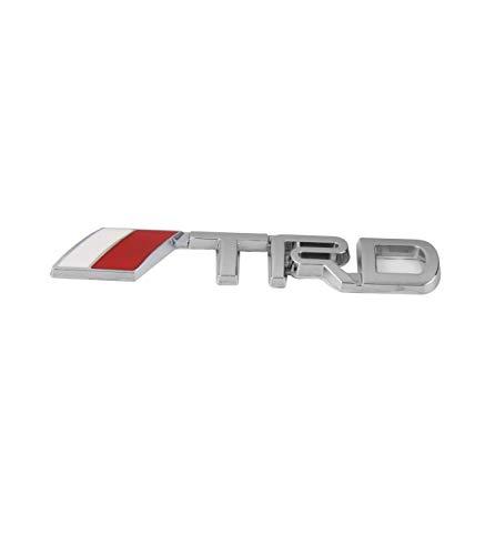 TradeShopOISEART - Adesivo Decorazione 3D in Metallo Cromato per Auto Figura Stemma TRD Sticker - 04030
