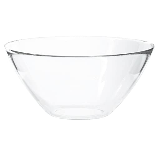 Large Round Funnel Clear Glass Serving Mixing Storing Fruit Salad Bowl YJYDD