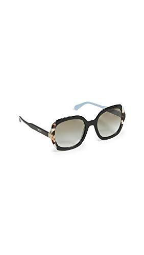Prada 0PR 16US Gafas de sol, Black Azure/Spotted Brown, 54 para Mujer