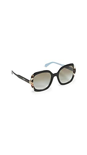 Prada Damen 0PR 16US Sonnenbrille, Schwarz (Black Azure/Spotted Brown), 54