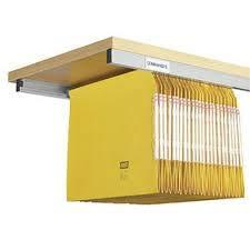 Juego de 2 rieles de 94 cm KITCLASS© aluminio para atornillar debajo de estante de madera para carpetas colgantes 🔥