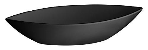 Lacor - 63568 - Fuente De Melamina Oval Classic 41,5x17x8 cm - Negro