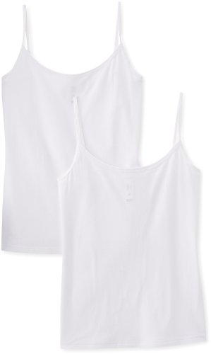 DIM Les Pockets Eco, Chaleco Para Mujer, Blanco, S, Paquete de 2