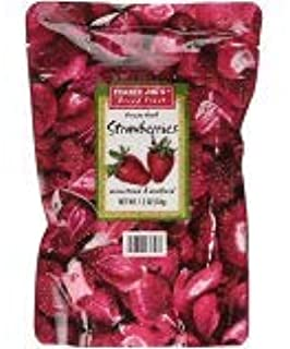 Trader Joe's Freeze Dried Strawberries Unsweetened & Unsulfured 1.2oz (Pack of 6)
