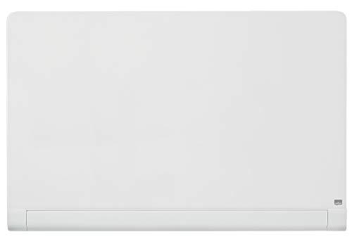Nobo Pizarra Magnética de Cristal Con Bandeja para Rotuladores Oculta, 1260 x 710 mm, Sistema de Instalación InvisaMount, Impression Pro, Blanco Brillante, 1905192