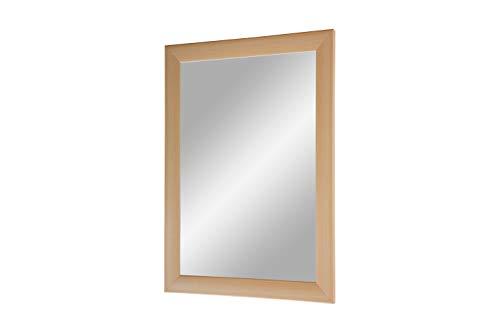 FRAMO Trend 35 - Wandspiegel 30x80 cm mit Rahmen (Buche), Spiegel nach Maß mit 35 mm breiter MDF-Holzleiste - Maßgefertigter Spiegelrahmen inkl. Spiegel und Stabiler Rückwand mit Aufhängern