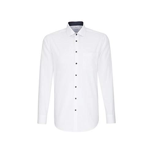 Seidensticker Herren Business Hemd Regular Fit Businesshemd, Weiß (Weiß 01), (Herstellergröße: 48)