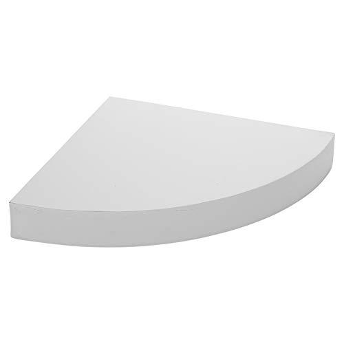URBNLIVING Wand-Eckregal, schwebend, aus Holz weiß