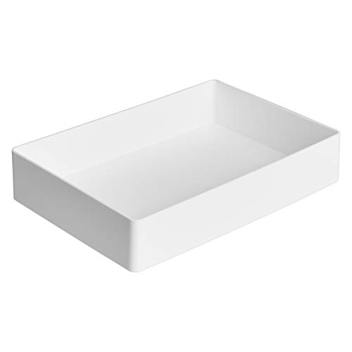Amazon Basics Organizador de plástico, bandeja para accesorios, blanco