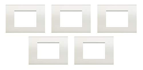 Bticino - Placa de Livinglight 5 Pezzi blanco opaco