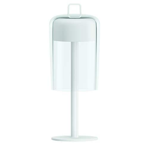 Guzzini Soirée tafellamp, 100% kunststof, wit, 11,6 x 31,3 cm