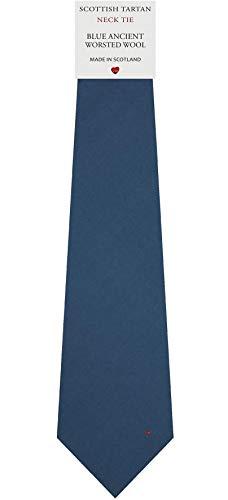 I Luv Ltd Cravate en Laine pour Homme Tissée et Fabriquée en Ecosse à Plain Ancient Blue