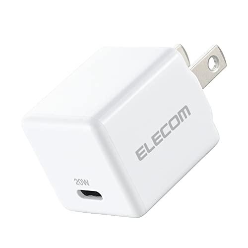 エレコム AC充電器 USB充電器 USB Power Delivery対応 20W USB-C1ポート プラグ固定 ホワイト MPA-ACCP22WH