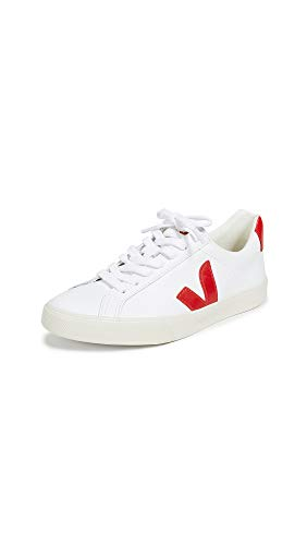 Veja Men's Esplar Leather Sneakers, White/Pekin, 11 Medium US