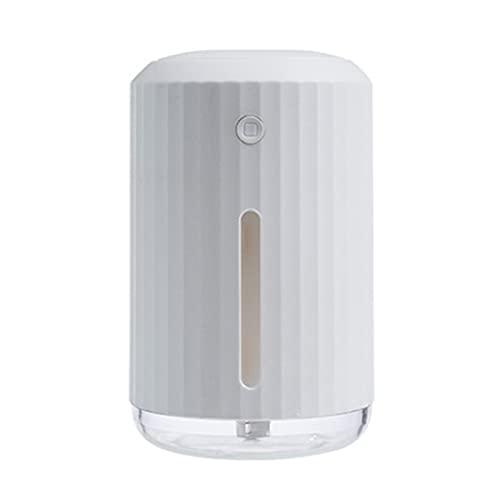 Difusor De Aceites Esenciales De 320 Ml, Mini Difusor De Aroma Coche Silencioso Humidificador USB Luces Colores para Baby Room Home SPA, 80 * 130 Mm,Blanco