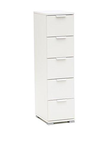 MeMi Me310cBIA Cassettierina, Legno, Bianco, 38x27x105 cm