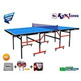 Koxtons Table Tennis Table - Club with Levellers Top 18 mm - TT Table Cover + 2 TT Racket+Wrist Band
