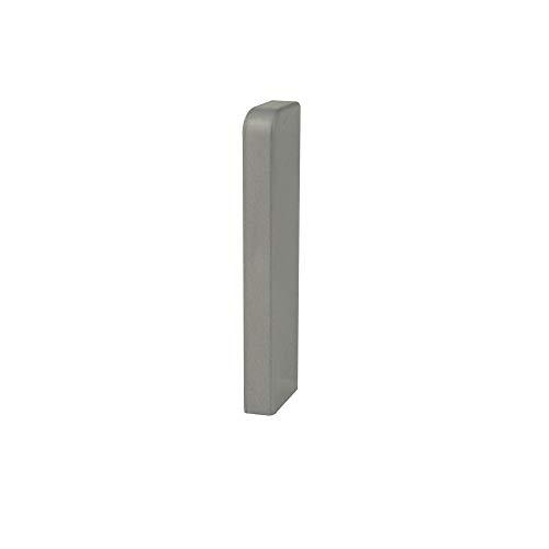 Trevendo® 10 Stück Endstück rechts silber für Sockelleiste Fußleiste 58 mm und 60 mm Höhe