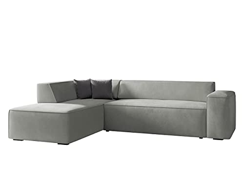 Ecksofa Lordin, Eckcouch, Polstersofa, Polsterecke, Couch, L-Form Sofa, Kissen-Set, Polstergarnitur, Wohnlandschaft, Farbauswahl (Zetta 302 + Zetta 302 +...