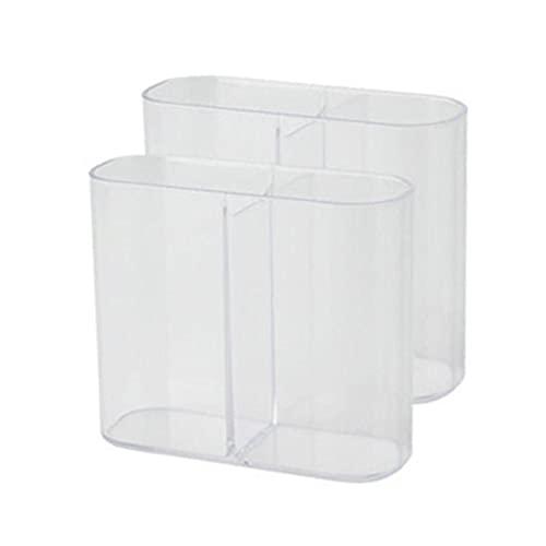 2 capas de plástico transparente kits de herramientas caja de almacenamiento con...