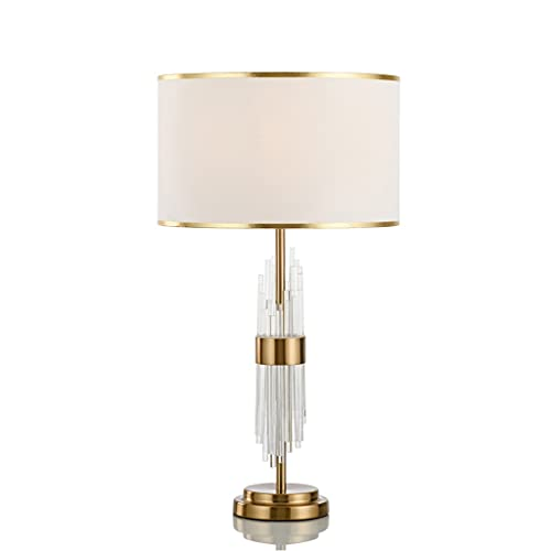 Lámpara de mesa creativa de cama moderna Lámpara de escritorio de lujo simple y ligera Lámpara de la oficina de cristal europea para la oficina de dormitorio