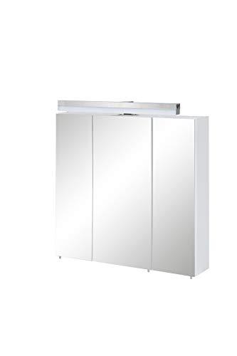 Schildmeyer Tricala Spiegelschrank 147363, weiß matt, 80 x 78 x 16 cm