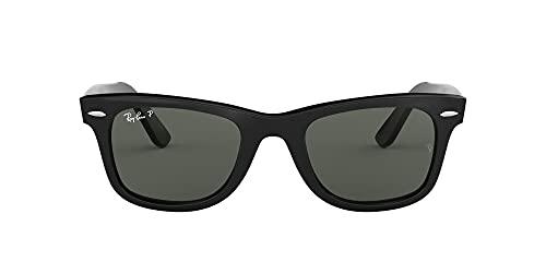Ray-Ban RB2140 Original Wayfarer Sunglasses, Black/Polarized Green, 54 mm