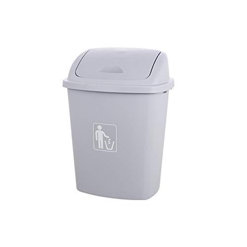 CSQ- Bote De Basura Con Tapa Oscilante Para El Hogar, Contenedor De Reciclaje De Basura De Plástico, Contenedor De Limpieza De Basura Para Restaurante, Cocina, Dormitorio(Size:65L,Color:UN)