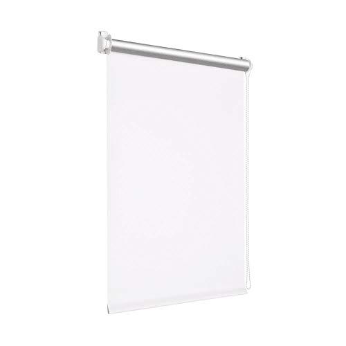 Victoria M. Tenebra Verdunkelungsrollo Thermorollo Rollo ohne Bohren für Fenster und Türen, 35 x 160 cm, weiß