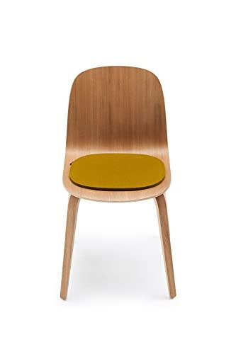 Hey-Sign Sitzauflagen VISU Chair 4-teilig in vielen Farben, Modell:1 x 5 mm - einfach, Farbe:36 - Stone
