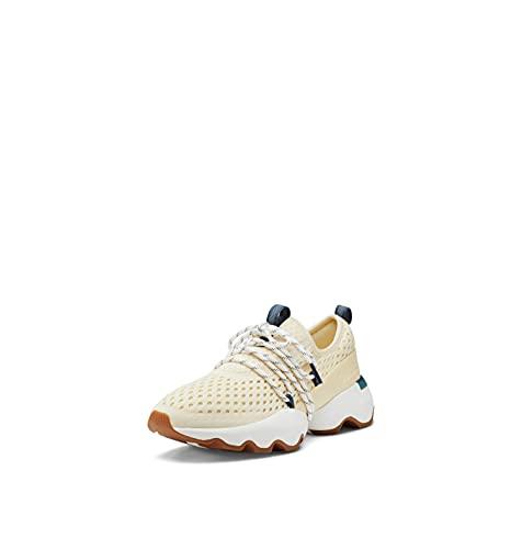 Sorel Women's Kinetic Impact Lace Sneaker — Glove Yellow, Uniform Blue — Lightweight Mesh & Leather Sneakers — Size 10.5