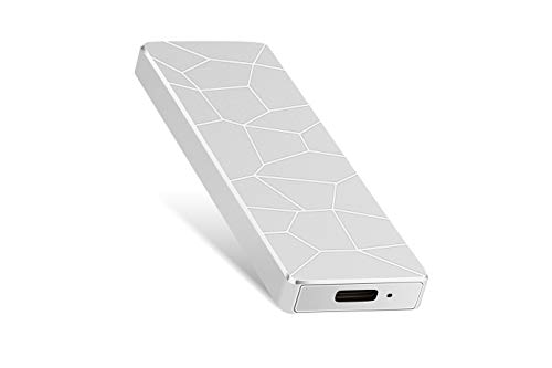External Festplatte 1TB 2TB, portable Festplatte External Type-C USB 3.0 für PC, Laptop und Mac (2TB Silber)