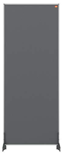 Separador de sobremesa Nobo Impression Pro, barrera de distanciamiento social, sistema de protección y pantalla, superficie de fieltro, gris, 400x1000 mm 🔥