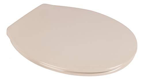 Calmwaters® Antibakterieller WC-Sitz Pergamon mit Absenkautomatik Essential Soft, Schnellbefestigung Fast-Fix, universale O Form, robuster Duroplast Kunststoff, Pergamon - 26LP2776