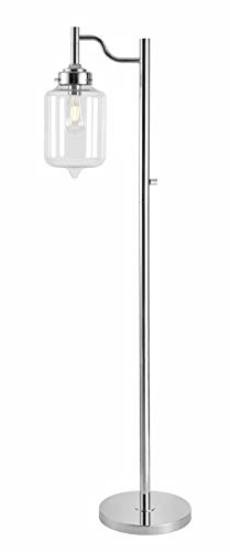 Kenroy Home 32408CH Casey, Floor Lamp, Chrome Finish