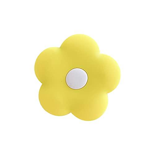 スマホグリップ スマホリング 花 フラワー 落下防止 スタンド機能 角度調整可能 イヤホン収納 リングスタンド iPad/iPhone/Android 全機種対応 イエロー