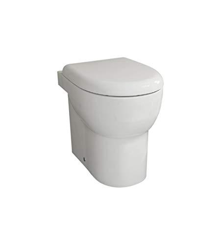 Sanitari bagno vaso wc water a terra filo muro,senza brida e rimless,ABE Azzurra